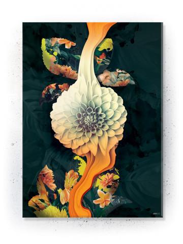 Plakat / Canvas / Akustik: Flydende blomst (Yellow spring)