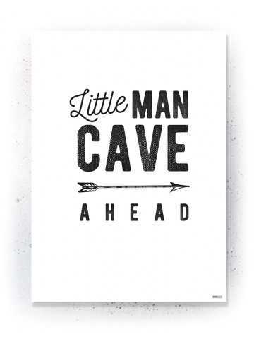 Plakat / Canvas / Akustik: Little Man Cave (Black)