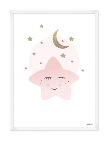 Plakat: Lyserød stjerne (Pigeværelset)