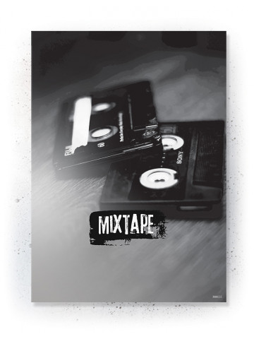 Plakat / Canvas / Akustik: Mixtape (Off-White)