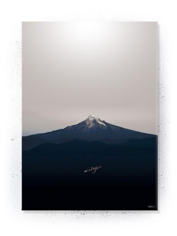 Plakat / Canvas / Akustik: Montagne (Stark)