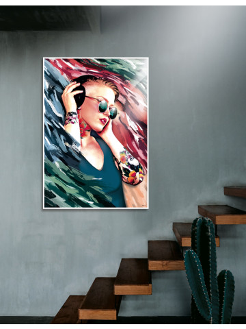 Plakat / Canvas / Akustik: Thousand Beats (Motivational Art)
