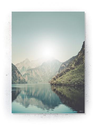 Plakat / Canvas / Akustik: Mountain Lake (Nature)