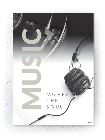 Plakat / Canvas / Akustik: Music Moves the Soul (Off-White)