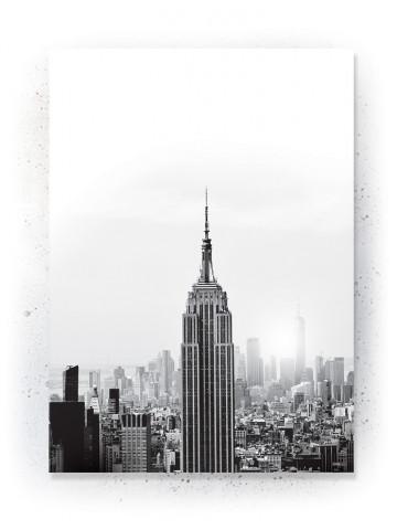 Plakat / Canvas / Akustik: New York (Black)