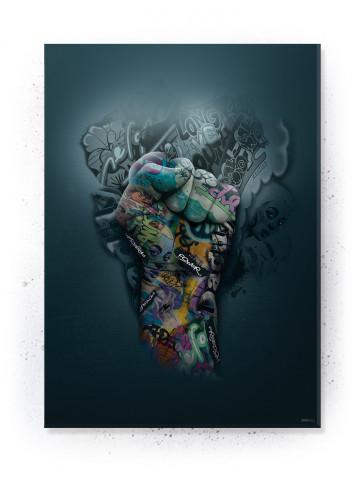 Power Fist II / Knytnæve Graffiti (Statements) Plakater, lærredsbillede & akustik