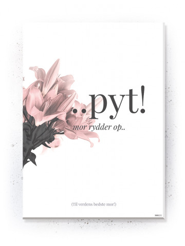 Plakat / Canvas / Akustik: Pyt (Flush Pink)