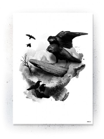 Plakat / Canvas / Akustik: Ravens (Animals)