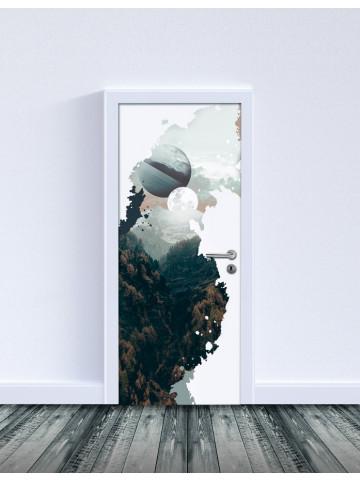 Selvklæbende Laminat: Rift (Til indvendige døre).