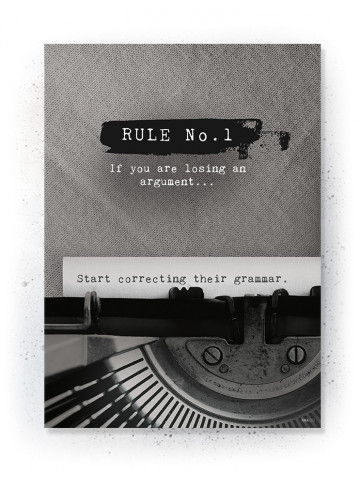Plakat / Canvas / Akustik: Rule No. 1 (Off-White)