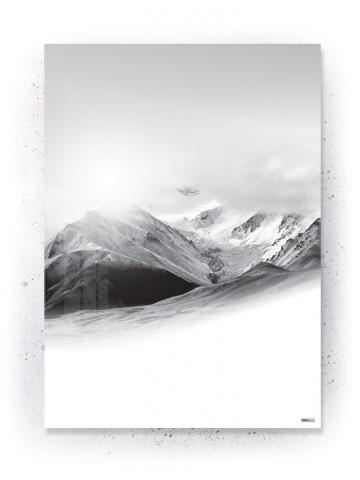 Plakat / Canvas / Akustik: Silent Mountain (Black)