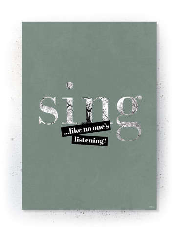 Plakat/Canvas: Sing (Earth)