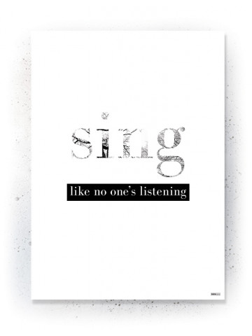 Plakat / Canvas / Akustik: Sing (Quote Me)