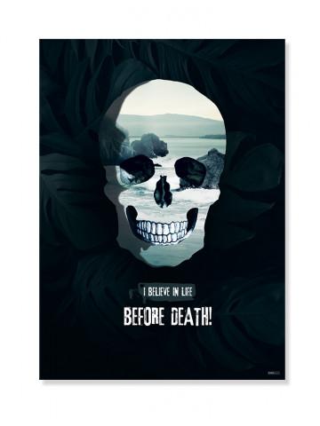 Plakat / Canvas: Skull (VIVID)