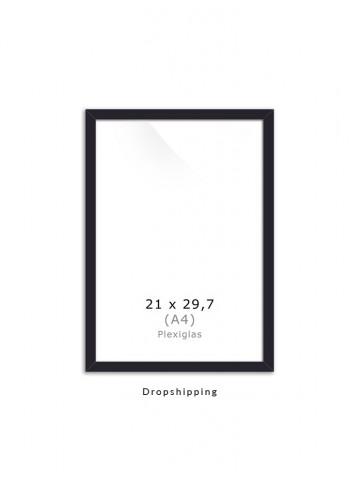 Dropshipping / Ramme: Sort 21x30cm