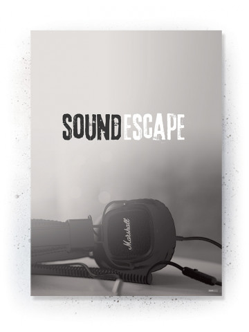 Plakat / Canvas / Akustik: Sound Escape (Off-White)