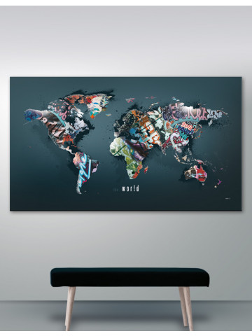 Verdenskort plakat/canvas: The world (Statements)