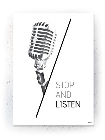Plakat / Canvas / Akustik: Stop and listen (Quote Me)