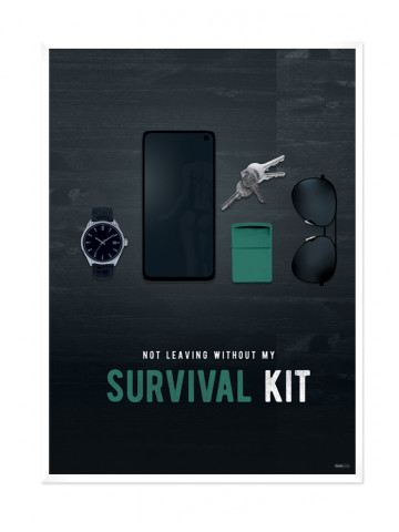Plakat: Survival Kit (Men Only)