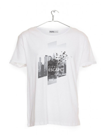 "T-Shirt med teksten ""City Escape"" (HERRE)"