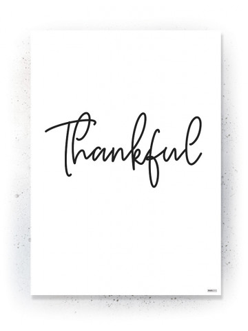 Plakat / Canvas / Akustik: Thankful (Quote Me)
