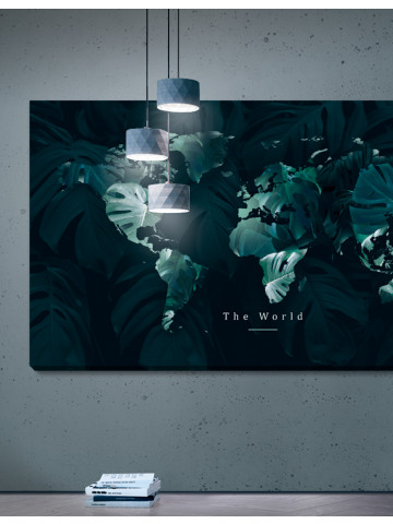 Plakat / Canvas / Akustik: The World - Green (Earth / Panorama)