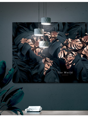 Verdenskort plakat/canvas: The world 2 - panorama (Earth)