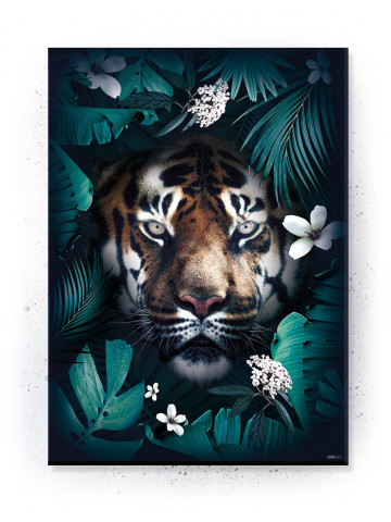 Plakat / Canvas / Akustik: Tiger in Jungle (Animals)