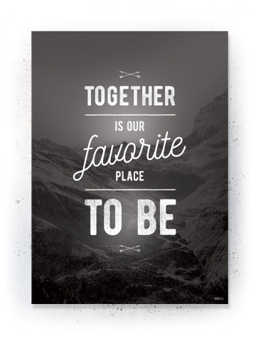 Plakat / Canvas / Akustik: Together (Black)