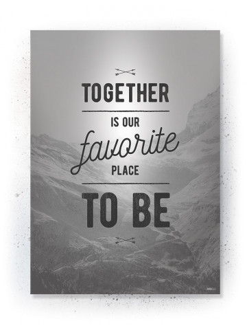 Plakat / Canvas / Akustik: Together (Off-White)