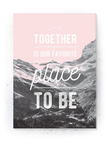 Plakat / Canvas / Akustik: Together (Flush Pink)