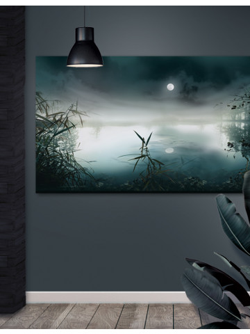 Plakat / Canvas / Akustik: Moonscape / Panorama (Earth)