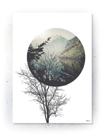 Plakat / Canvas / Akustik: Tree & Circle (Nature)