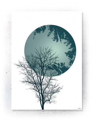 Plakat / Canvas / Akustik: Tree & Circle (Thoughts)