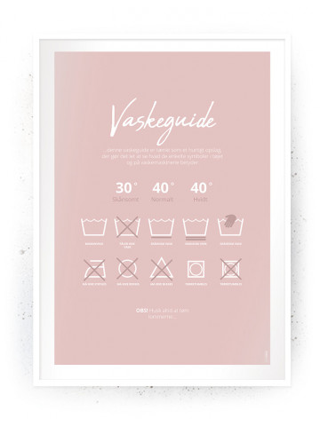 Plakat / Canvas / Akustik: Vaskeguide Rosa (Vaskerum)