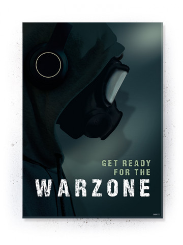 Plakat / Canvas / Akustik: Get ready for the Warzone (Gamer)