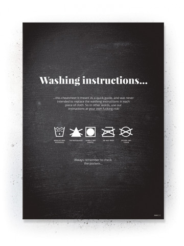 Plakat / Canvas / Akustik: Washing instructions (Quote Me)