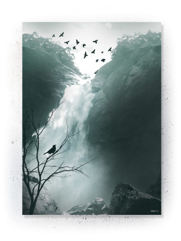 Plakat / Canvas / Akustik: Waterfall & Birds (Thoughts)