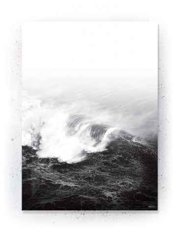 Plakat / Canvas / Akustik: Bølger (Black)