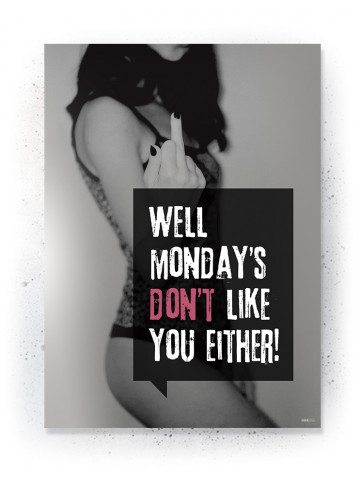 Plakat / Canvas / Akustik: Well Monday dosn't like you either (Quote Me)