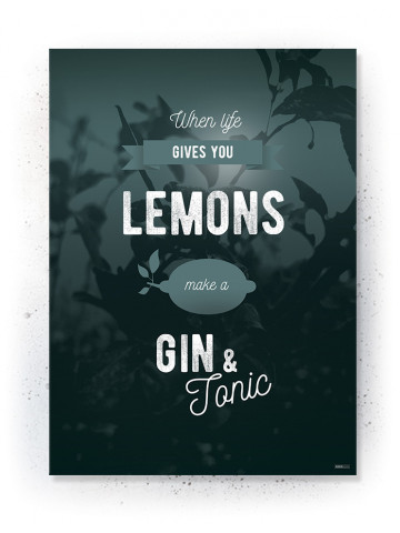 Plakat / Canvas / Akustik: When life gives you lemons (Thoughts)