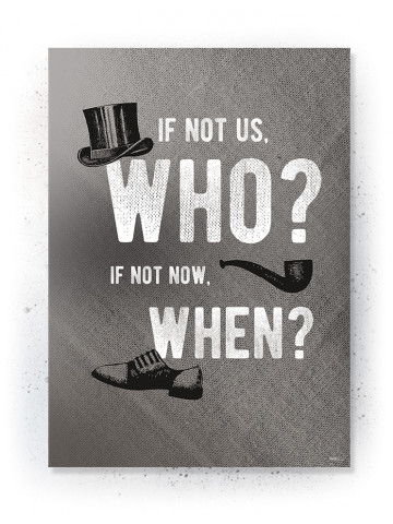 Plakat / Canvas / Akustik: Who, when (Off-White)