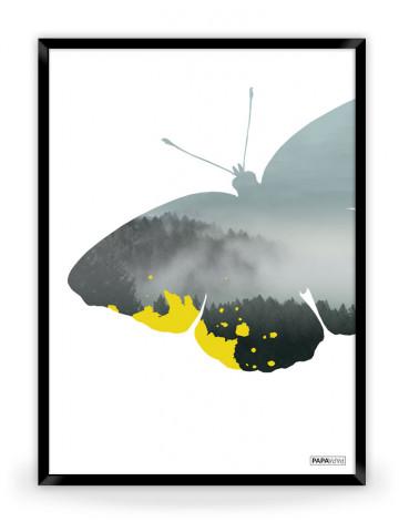 Plakat: Butterfly (Yellow Nature)