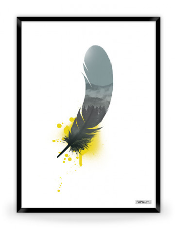 Plakat: Feather (Yellow Nature)
