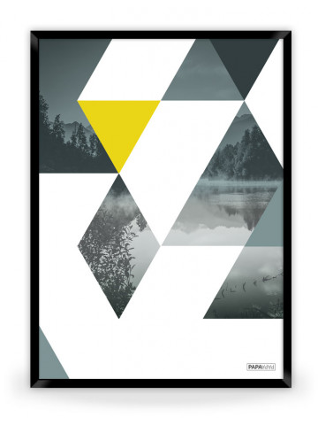 Plakat: Triangles (Yellow Nature)
