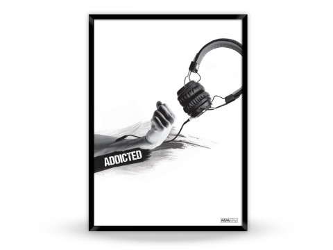 Plakat: Addicted to music