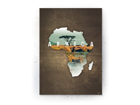 Plakat / canvas / akustik: Africa (Continents of the World)