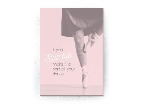 Plakat / Canvas / Akustik: Ballerina (Flush Pink)
