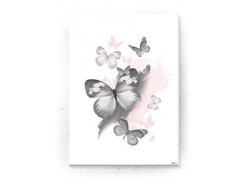 Plakat / Canvas / Akustik: Butterflies (Flush Pink)