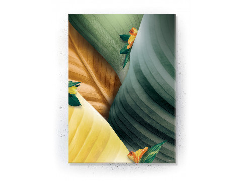Plakat / Canvas / Akustik: Colorful Leaves 2 (Yellow spring)